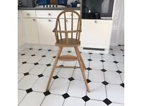 Ikea solid wood vintage highchair - ideal upcycling project