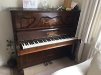 W.H. Barnes upright piano - free to collect