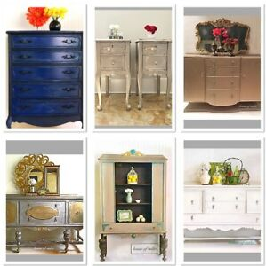 Beautiful vintage and antique dressers, buffets, sidetables