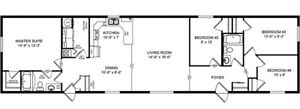 Unbelievable price for 1520 sq new home!  Amisk model