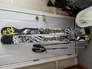 k2 iron maiden powder skis head bindings and Salomon boots
