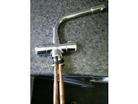 Chrome monobloc kitchen mixer tap