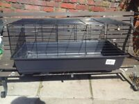 """guinea pig or small rabbit cage 39""""x21""""x18 inches black"""
