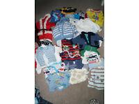 Big bundle of baby boy clothes size 0-3 months