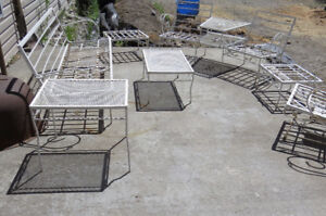 antique wrought iron lawn furniture