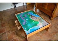Childrens Kids Kiddies World of Imagination Play Table with Drawer