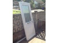 White Upvc door only 3 years old in excellent condition