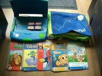 Leap frog leappad learning system bundle with books and cartridges