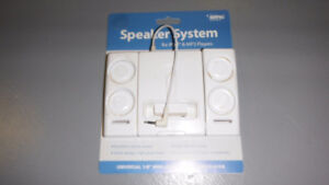 Speaker system for ipod& MP3 players Excellent stereo sound