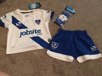 12-18 months (already personalised) Baby Football Kit - PFC Portsmouth Football Club