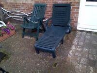 Garden Lounger Plus Garden Chair For Sale