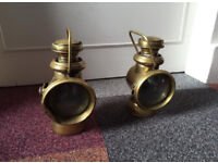 Powell and Hanmer Carriage Lamps - Left and Right Set