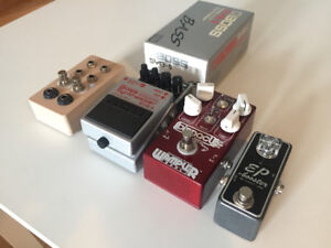 Pedals Boss Bass Synth SYB-5 & Dual/Independt. AB Switch w/ LEDs