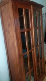 Solid wood display cabinet£150 ono