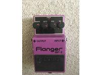 Boss BF-2 flanger guitar effects pedal