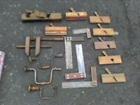 Set of Old Woodworking Tools