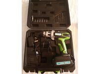 Maplin 18V Lithium Ion Cordless Drill with Case and Drill Bits