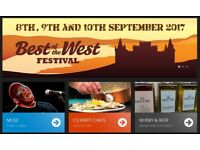 BEST OF THE WEST FESTIVAL TICKETS, INVERARY CASTLE. 9TH SEPTEMBER