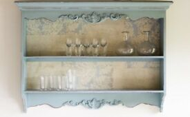 French vintage style shabby chic shelf unit £70