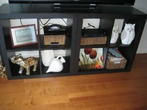 TWO CUBE DISPLAY SHELVES