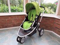 Mothercare xpedior 3 wheel green pram