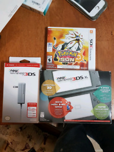 Brand new with box BNWB new Nintendo 3ds XL with 2 pokemon games