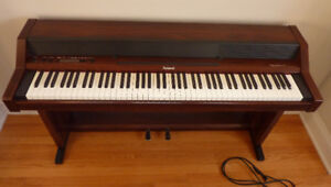 "Used Roland 450 ""Piano Plus 450"" Keyboard and Stand"