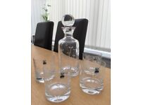 Gleneagles crystal whisky decanter and glasses