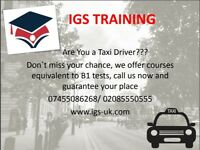 SIA Courses Training, English Language course, CAB Drivers test, B1