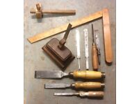 Vintage assortment of carpentry tools
