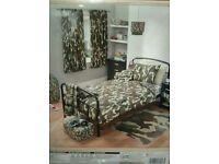 Camouflage bed duvet set single