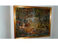 Large Framed Tapestry depicting a; Hunting Scene;