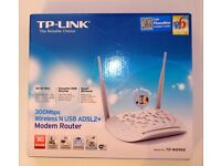 TP Link modem wireless router for computers laptops internet