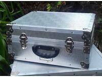 Almost New Large Aluminium Alloy Camera Case Reinforced Corners Detachable Lid