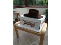 Brown Bailey Stentson Cowboy Hat XXX Beaver Size 7 1/4