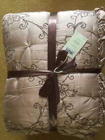 Laura Ashley Silk Bedspread 200cm x 200cm