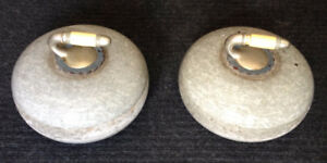 2 Granite Curling Rocks