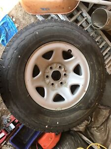 "Studded Hankook 17"" winter tires on rims"