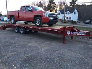 26' flat bed utility cargo trailer