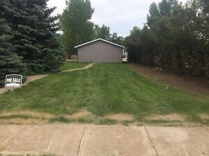 Lot and garage for sale