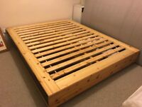 Kingsize bed frame with 4 large drawers