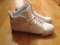 Adidas white trainers size 9
