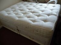 King size double bed with pocket sprung matress and one and a half drawer sprung devan base
