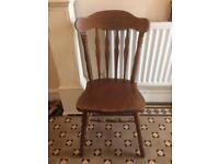 Two heavy chairs £10