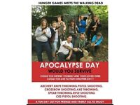Could you survive an Apocalypse? Adventure day tickets for any Sunday up to the end of October!