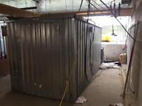 Galvanised flat pack storage