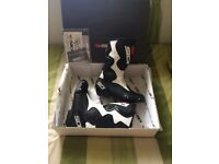 Sidi v fusion black and white biker boots new in box