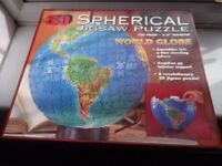 3D jigsaw puzzle of the globe
