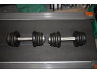 16kg cast iron weights pro-style dumbbells / dumbells (32kg total), home gym or commercial