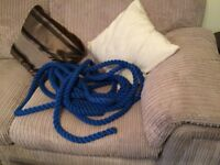 @35FT X 30MM BLUE HAND RAIL ROPE, VERY GOOD CONDITION@